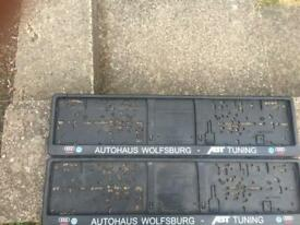 Wolfsburg number plate holders