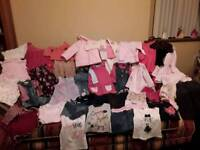 Selection of baby girls winter clothes 9-12 months