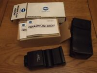 Minolta 4000AF Flashgun with black case, all boxed as new