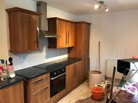 This kitchen has not been in long would make good for rental or bed sit