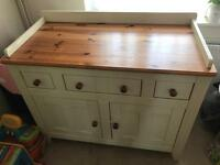 Wooden sideboard or baby changing unit