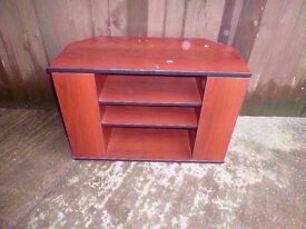 Wood tv Stand with Dvd Storage Delivery Available £10