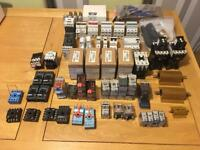 Job lot of electrical RCD's, main switches, relays, magnetic contractors and other parts