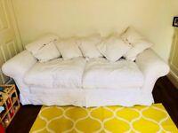Large cream sofa workshop sofa