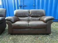 Leather Reclining Armchair+Matching Sofa *Free Delivery*