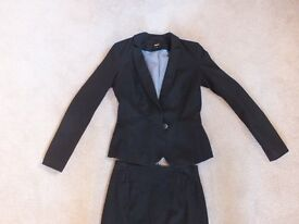 Oasis Black Suit Jacket and Skirt