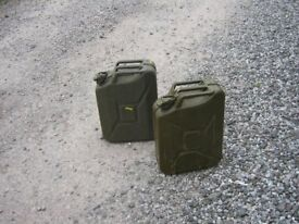 Metal 20 Litre jerry cans in very good condition