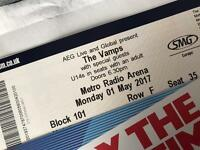 2 x Vamps tickets - Newcastle - 1st May. GREAT SEATS