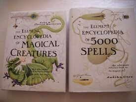 Two encyclopediae of Spells and Magical Creatures