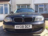 2008 BMW 1 SERIES 118D DIESEL BLACK 5 DOOR HATCHBACK QUICKSALE