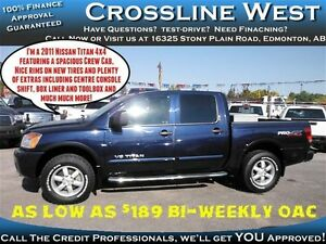 2011 Nissan Titan Pro-4X | Power Options | Low Km's | 5.6L V8 |