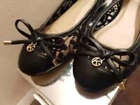 Black Lace Size 37/4 ballerina shoes/pumps