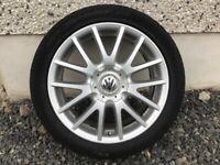 17INCH 5/112 VW GT WHEELS WITH TYRES FIT AUDI SEAT SKODA ETC