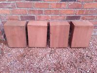 Locharbriggs Red sandstone L-shaped quoins x4 - £25 each