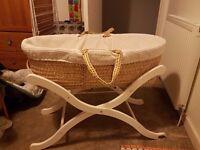 Baby Weavers Moses Basket, Stand & mattress