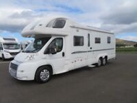 2007 BESSACARR E769 6 BERTH FIXED BED MOTORHOME WITH ONLY 40K MILES ANDERSON MOTORHOME SALES