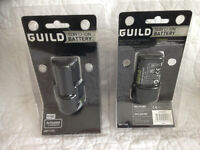 2 Brand new packaged 10.8 volt Guild cordless batteries