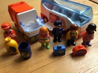 Playmobil Shape Sorter Bus and Bin Lorry