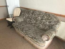 3 seater sofa and 2 arm chairs for sale ***COLLECTION ONLY***