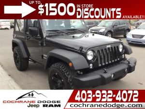 2017 Jeep Wrangler Sport with UPGRADED RIMS! LOW KMS!