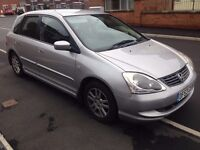 2004 HONDA CIVIC SE 1.7 CTDI 5 DOOR SILVER - FITTED WITH TOW BAR