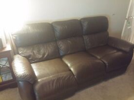Real leather sofa 3seat and 2 seat