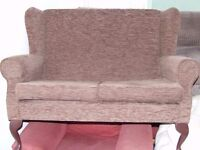 Cottage Style High Back Two Seat Sofa