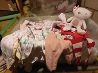 Baby clothes, first size, birth to 1 month, large box, good condition