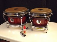 Meinl Woodcraft Series WB500 wood bongos in antique mahogany burst – NEW & MINT condition