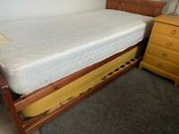 Single pine M&S trundle bed