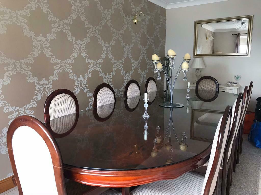 Large 10 Seater Antique Dining Table And Chairs In Cumbernauld Glasgow Gumtree
