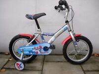Kids Bike, by Apollo, Silver, 14 inch Wheels, Great for Kids 4 Years, JUST SERVICED / CHEAP PRICE!!!