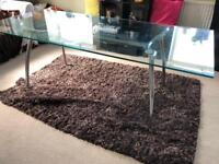 6ft glass dining table