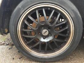 "Zcw 17"" alloy wheels with tyres"