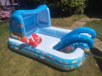 Kids Paddling Pool With Slide and Sprinkler
