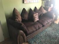 Four seater DFS sofa with foot stool
