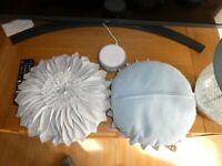 Small Round Decorative Cushions Perfect Condition