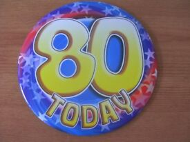 FREE '80' Today Birthday Celebration Big badge