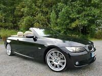 "BMW 335i M Sport 308 BHP Auto (PADDLE SHIFT) Convertible, Pro Nav, Xenons, Sports Pack, 19"" M Alloys"