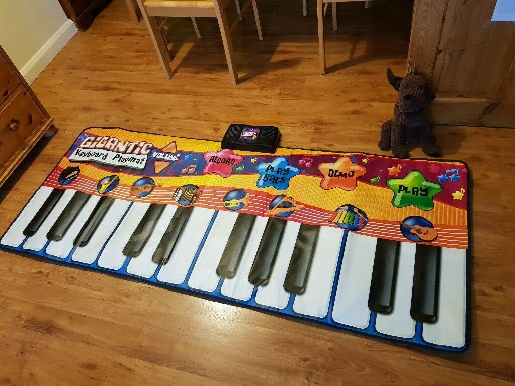 Piano Play Mat Kids Giant Keyboard Playmat Children Music