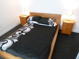 ikea malm oak veneer double bed with mattress