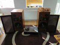 Mission 720 speakers and Dual amp.