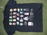 Minecraft, Mojang black tshirt, roughly age 10-12