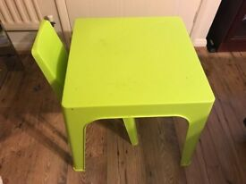 Child Green Table And Chair