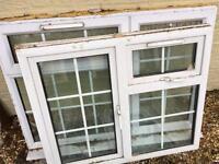 2 double glazed windows
