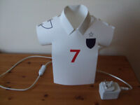 Football Shirt Table Lamp Bedside or table light in the shape of a Football Shirt