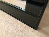 Large black bevelled mirror