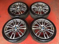 19'' GENUINE BMW 3 SERIES F30 F31 F32 403 STYLE 4 M SPORT E90 ALLOY WHEELS TYRES