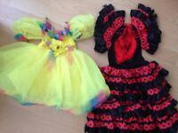 2x Children Fancy Dress Costumes Girls Costumes 3-5 years