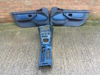 BMW E36 Z3 M COUPE OR CONVERTIBLE LEATHER BLUE BLACK DOOR CARDS AND CENTRE CONSOLE 1995-2003